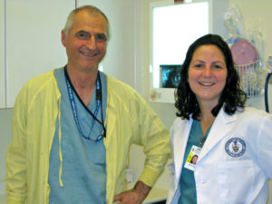 Dr. Michael Sigal and daughter Ali Sigal as a first year University of Toronto dentistry student.
