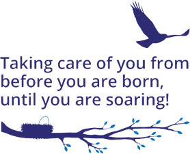 Taking care of you from before you are born, until you are soaring!