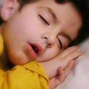 Toddler sleeping mouth open