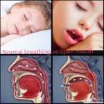 Nasal vs. mouth breathing picture and graphic with children